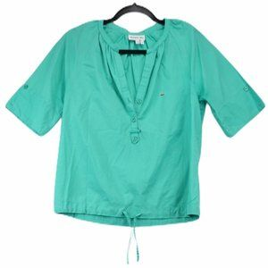 Lacoste Mint V neck Short Sleeve Top